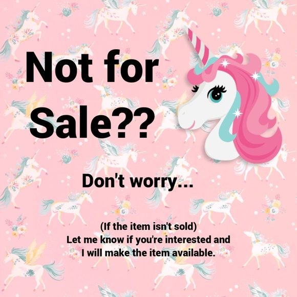 "Other - Item You Like is Listed ""Not for Sale""???"